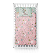 Flower crowns - bedspread in reversible minky (crib)