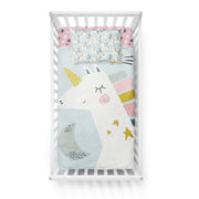Honeymooners - bedspread in reversible minky (crib)