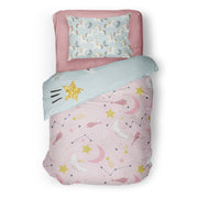 Honeymooners - bedspread in reversible minky (single & double)