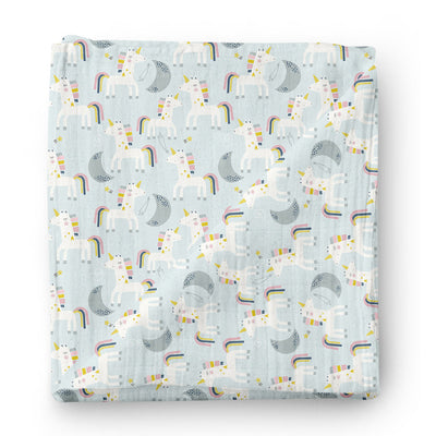 Honeymooners - bamboo muslin swaddle