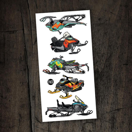 Children tattoos*** - Snowmobiles have fun - PICO tattoos