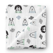 Starry night - bamboo muslin swaddle