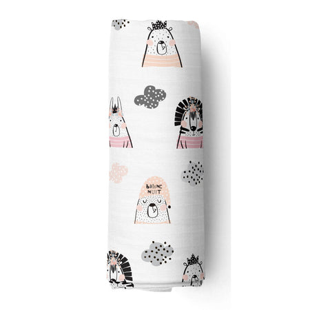 Rosy night - bamboo muslin swaddle
