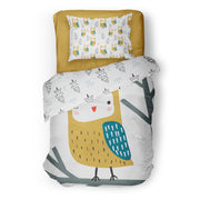 King of the forest - bedspread in reversible minky (single & double)