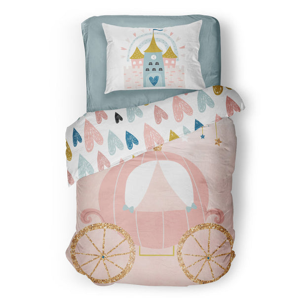 Satin castle - bedspread in reversible minky (single & double)