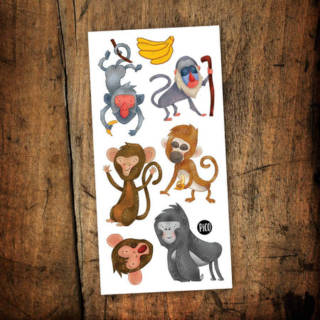 Children tattoos*** - Crazy Monkey - PICO tattoos