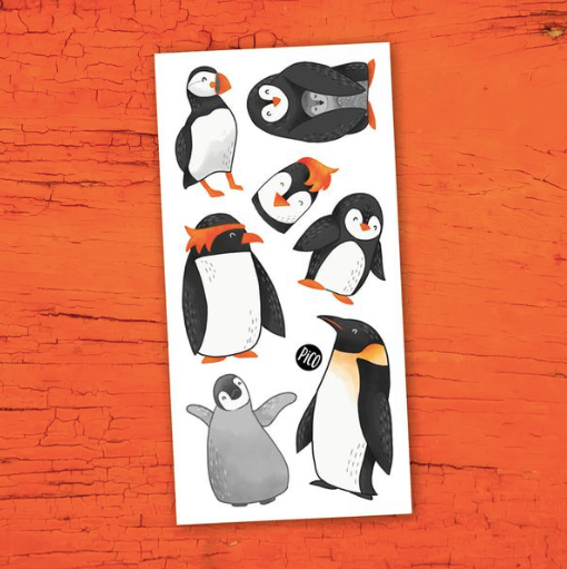 Children tattoos*** - Penguins - PICO tattoos