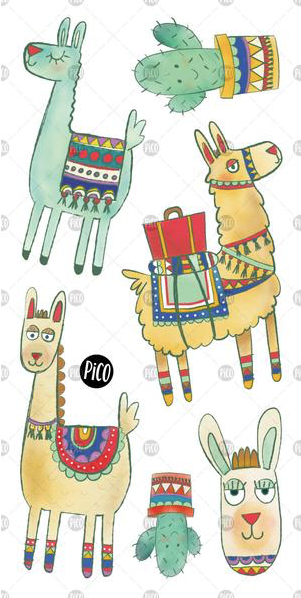Children tattoos*** - Noah the alpaca - PICO tattoos