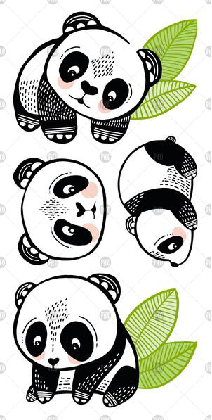 Children tattoos*** - Pandas - PICO tattoos