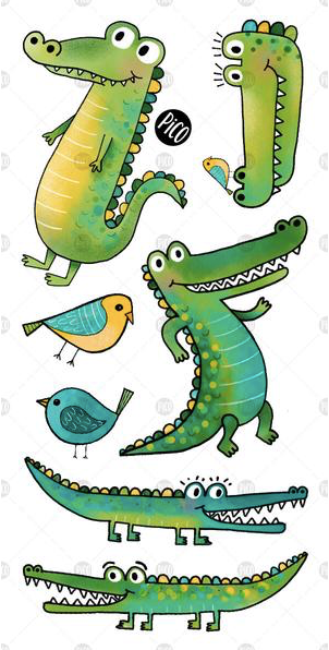 Children tattoos*** - Crocodiles - PICO tattoos