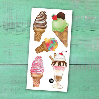 Children tattoos*** - Ice cream cones - PICO tattoos