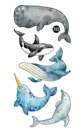 Children tattoos*** - Whales - PICO tattoos