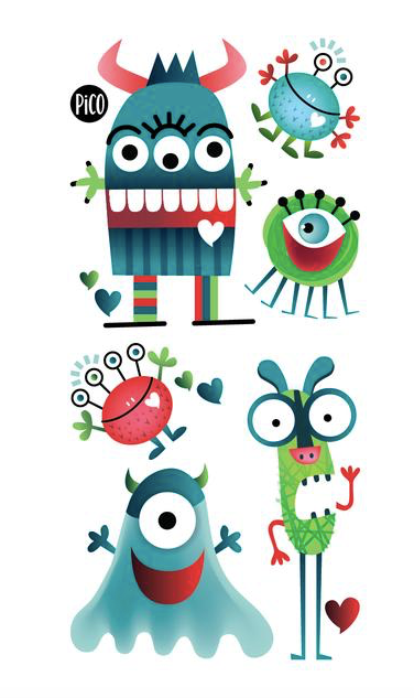 Children tattoos*** - Monsters - PICO tattoos