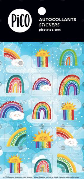 Stickers*** - Colorful Rainbows - PICO tattoos