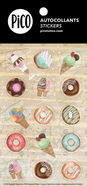 Stickers*** - Ice cream & Donuts - PICO tattoos