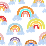 Summer rainbows - bamboo muslin swaddle