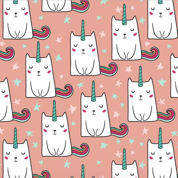 Rainbow caticorns - minky comforter