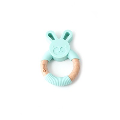 Mint rabbit - Chewable rattle
