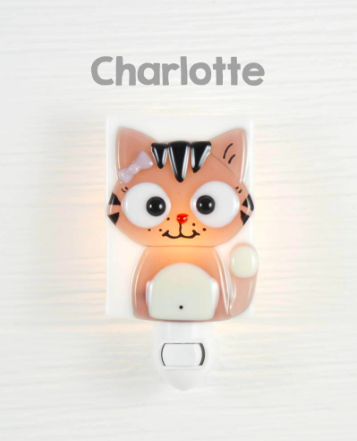 veilleuse veille sur toi glass nightlight charlotte chat rose pink cat ole hop