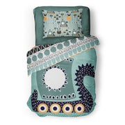 Once upon a time - bedspread in reversible minky (single & double)
