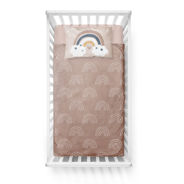 Silver linings - bedspread in reversible minky (crib)