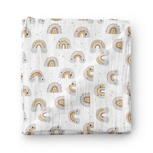 Silver linings - bamboo muslin swaddle