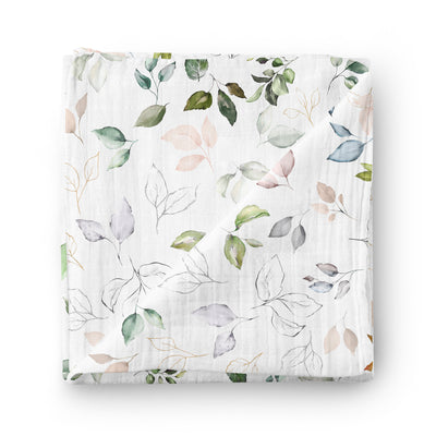Blooming nature - bamboo muslin swaddle