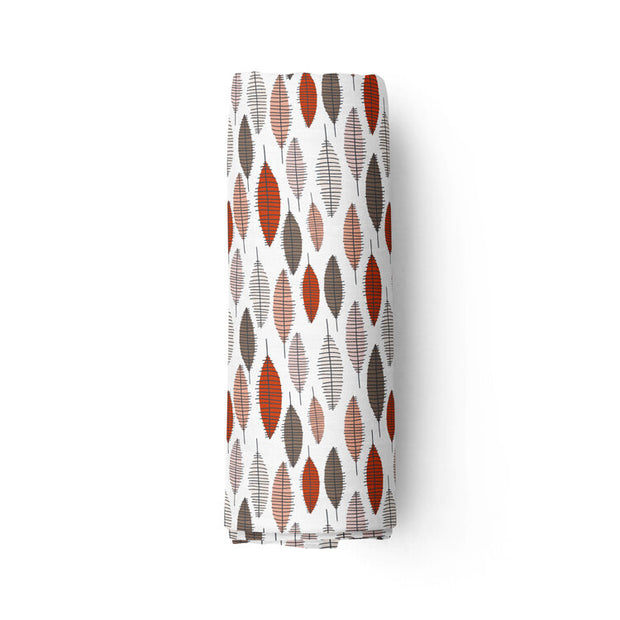 Fall foliage - bamboo muslin swaddle
