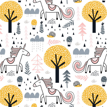Unicorn in love - minky comforter