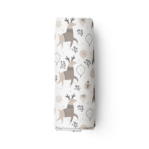 Morning frost - bamboo muslin swaddle