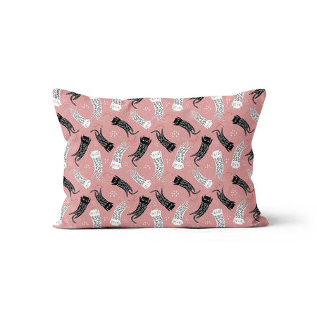 Sleepy kittens - bamboo muslin pillowcase