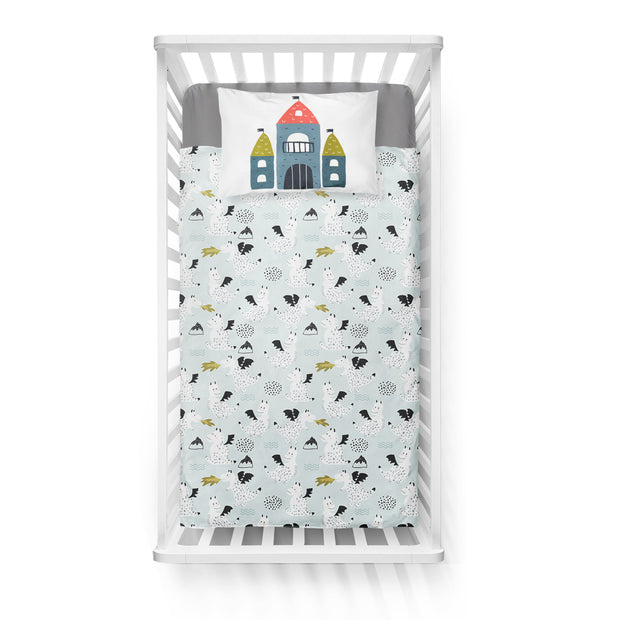 Knight in shining armour - bedspread in reversible minky (crib)