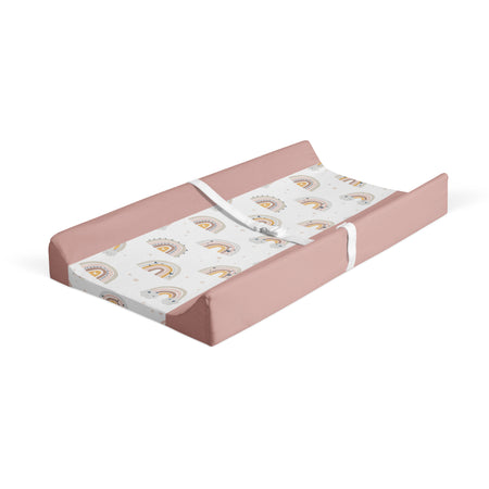 Silver linings - minky changing pad cover