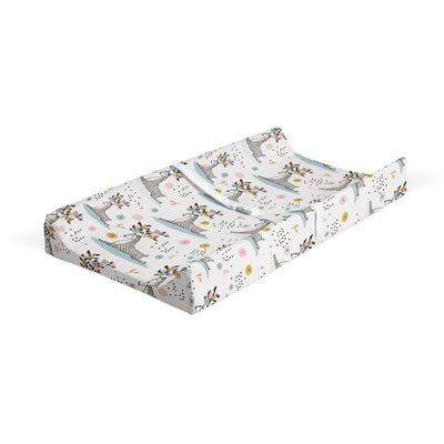 Flower crowns - muslin bamboo changing pad cover