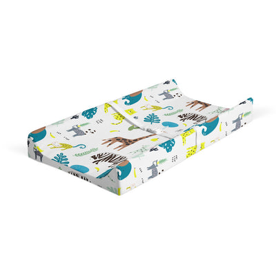 Jungle fever - bamboo muslin changing pad cover