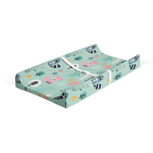 Wintry explorers - bamboo muslin changing pad cover