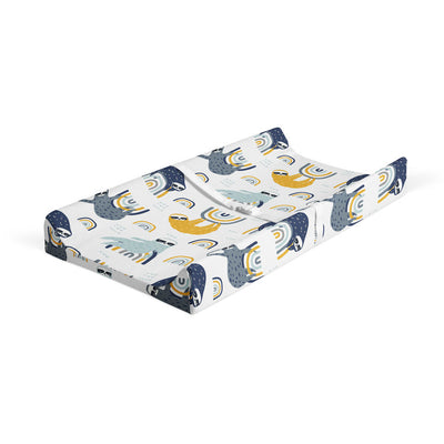 Sluggin' along - bamboo muslin changing pad cover