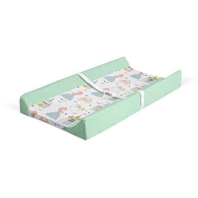 Satin castle - minky changing pad cover