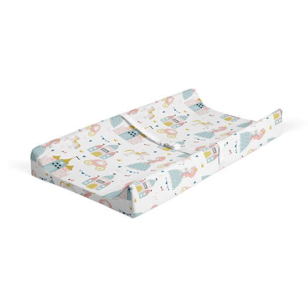 Satin castle - bamboo muslin changing pad cover