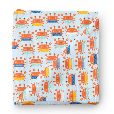 King crabs - bamboo muslin swaddle