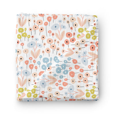 Royal garden - bamboo muslin swaddle