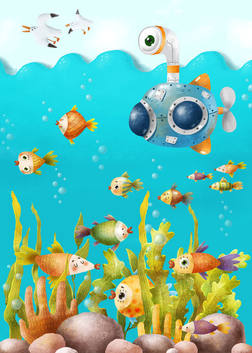 Underwater spies – play mat
