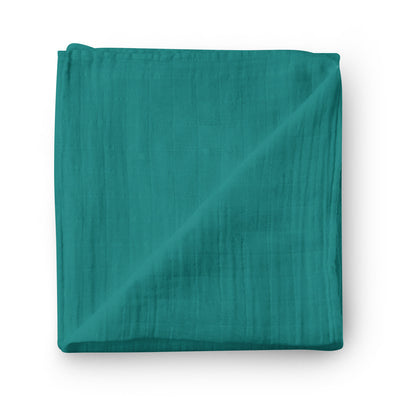 Tropical foliage - bamboo muslin swaddle