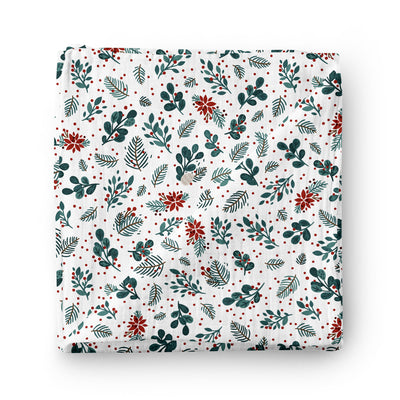 Pomegranate - bamboo muslin swaddle