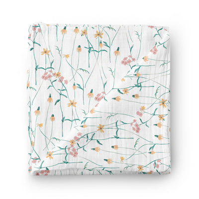 Wildflowers - bamboo muslin swaddle