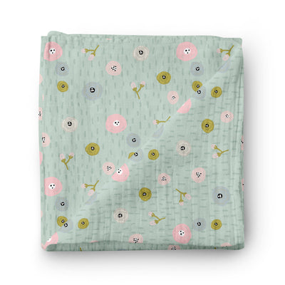 Flower field - bamboo muslin swaddle