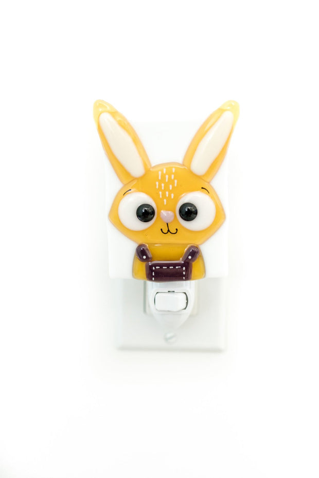 Glass Nightlight - Marcel the rabbit - Veille sur toi