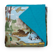 "Forest Animals - ""learning"" minky comforter (French version)"