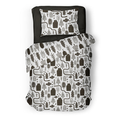 City slickers - bedspread in reversible minky (single & double)