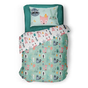 Wintry explorers - bedspread in reversible minky (single & double)